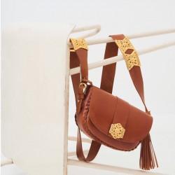 Gala leather shoulder bag...