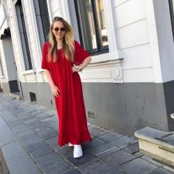 Rode kaftan jurk
