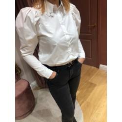 Witte blouse pofmouw